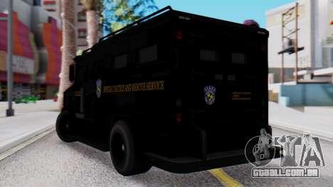 GTA 5 Enforcer Raccoon City Police Type 2 para GTA San Andreas esquerda vista