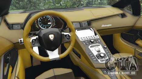 GTA 5 Lamborghini Aventador LP700-4 v1.0 vista lateral direita