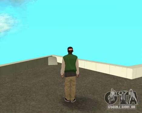 O novo garoto sobre o bloco grove Street para GTA San Andreas segunda tela