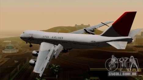 Boeing 747 JAL para GTA San Andreas esquerda vista