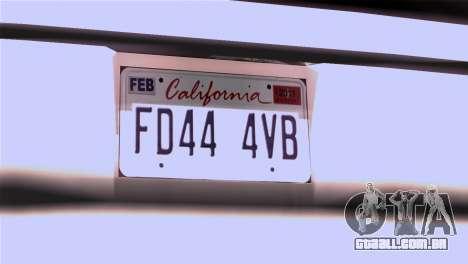 CA & NV License Plates para GTA San Andreas segunda tela
