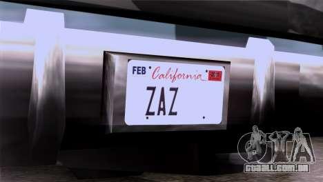 CA & NV License Plates para GTA San Andreas terceira tela