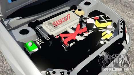 GTA 5 Subaru Impreza WRX STI 2005 traseira direita vista lateral