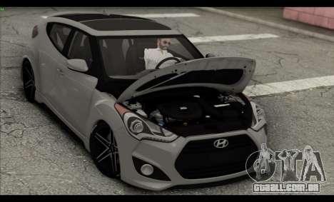 Hyundai Veloster 2012 para GTA San Andreas vista inferior