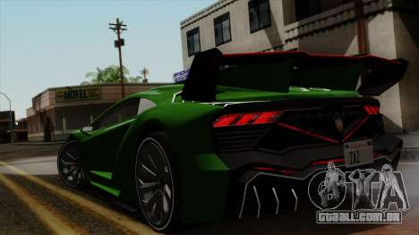 Pegassi Zentorno Veneno para GTA San Andreas traseira esquerda vista