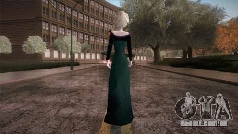 Elsa Frozen HQ Dress para GTA San Andreas terceira tela