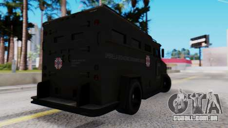 GTA 5 Enforcer Raccoon City Police Type 1 para GTA San Andreas esquerda vista