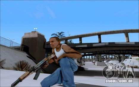 AK-47 Soviet para GTA San Andreas por diante tela