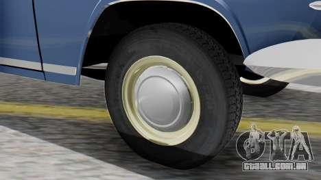 GAZ 21 Volga v1 para GTA San Andreas traseira esquerda vista