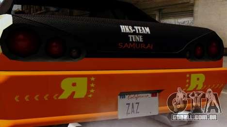 Vinil para Elegia - Deriva Samurai para GTA San Andreas traseira esquerda vista