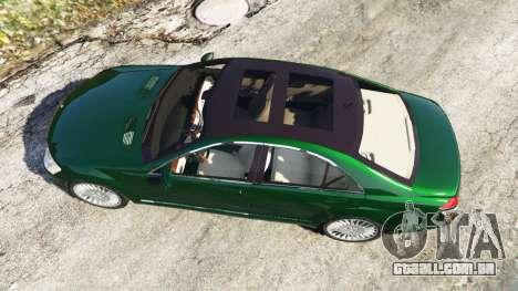 GTA 5 Mercedes-Benz S500 W221 v0.3.1 [Alpha] voltar vista