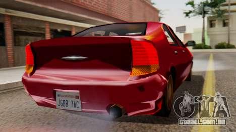GTA 3 Kuruma SA Style para GTA San Andreas esquerda vista