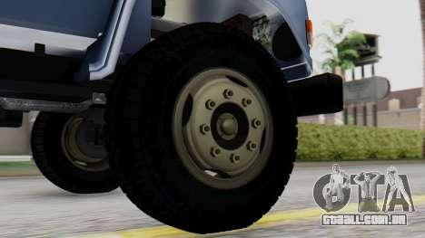 DAC 6135 Facelift para GTA San Andreas traseira esquerda vista