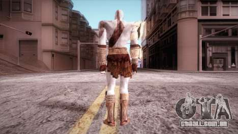God Of War 3 Kratos para GTA San Andreas segunda tela