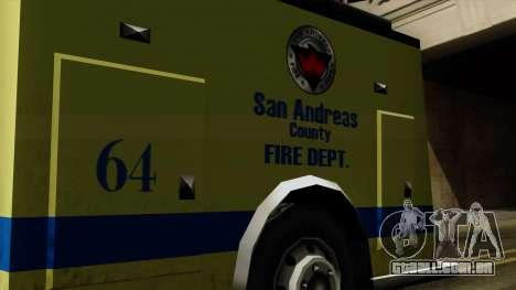 SAFD SAX Airport Engine para GTA San Andreas vista direita