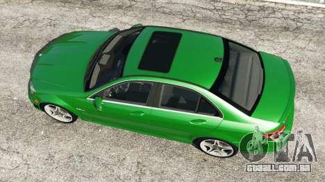 GTA 5 Mercedes-Benz C63 (W204) AMG voltar vista