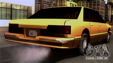 Taxi Kuruma 0.9 para GTA San Andreas esquerda vista