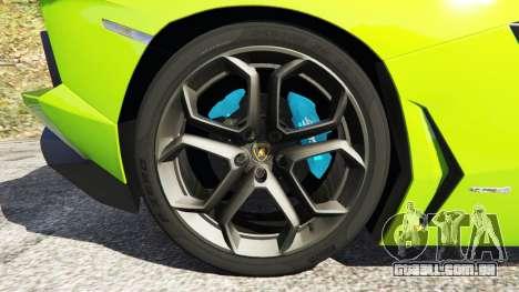 GTA 5 Lamborghini Aventador LP700-4 v1.0 traseira direita vista lateral