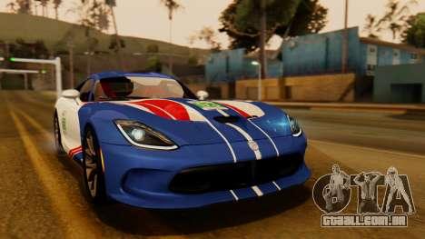 Dodge Viper SRT GTS 2013 IVF (HQ PJ) No Dirt para GTA San Andreas vista interior