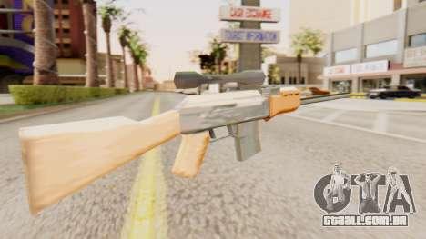 Zastava M76 para GTA San Andreas segunda tela