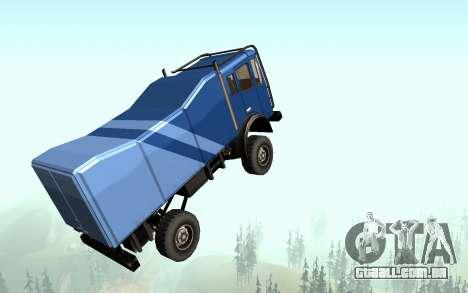 New Sky para GTA San Andreas por diante tela
