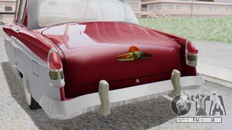GAZ 21 Volga v2 para GTA San Andreas vista traseira