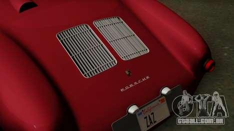 Porsche 550A Spyder 1956 para GTA San Andreas vista traseira