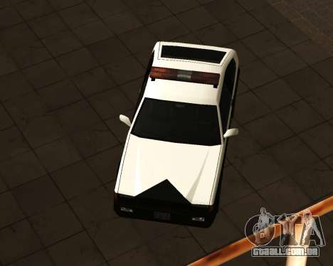 Japanese Police Car Blista para GTA San Andreas traseira esquerda vista