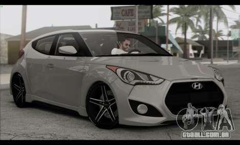 Hyundai Veloster 2012 para vista lateral GTA San Andreas