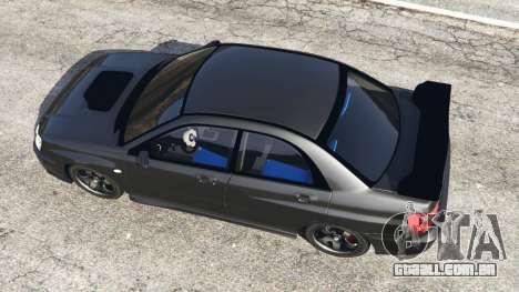 GTA 5 Subaru Impreza WRX STI 2005 voltar vista