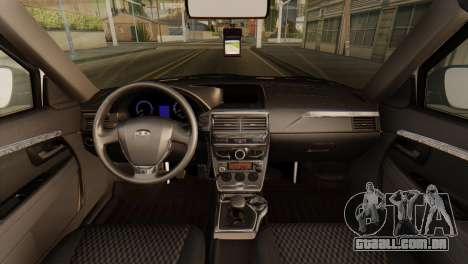 Lada 2170 Priora polícia de trânsito de Nizhniy  para GTA San Andreas vista direita