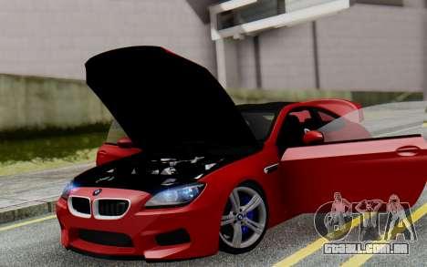 BMW M6 2013 v1.0 para GTA San Andreas interior