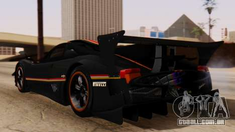 Pagani Zonda Revolucion 2015 para GTA San Andreas esquerda vista