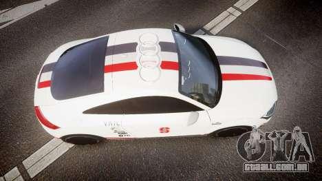 Audi TT RS 2010 Shelley para GTA 4 vista direita