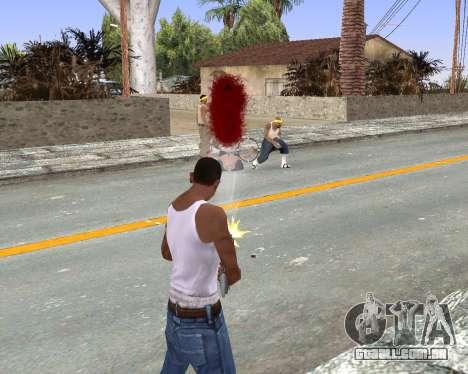 Blood Effects para GTA San Andreas terceira tela
