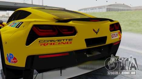 Chevrolet Corvette C7R GTE 2014 PJ1 para GTA San Andreas vista traseira