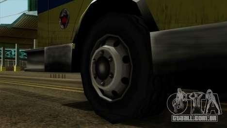 SAFD SAX Airport Engine para GTA San Andreas traseira esquerda vista