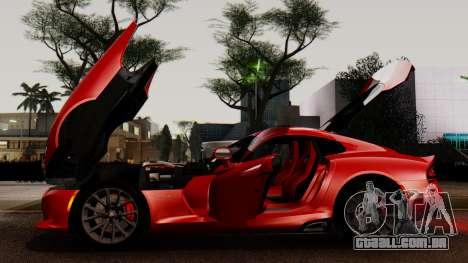 Dodge Viper SRT GTS 2013 IVF (MQ PJ) LQ Dirt para GTA San Andreas vista superior