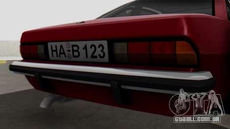Opel Manta B1 para GTA San Andreas vista traseira