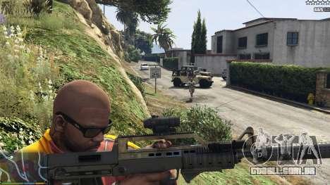 O exército, em vez de a polícia no 5-estrelas v1 para GTA 5