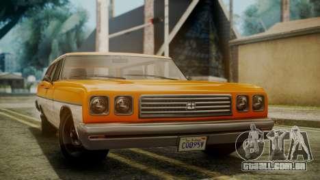 GTA 5 Dundreary Regina para GTA San Andreas vista direita