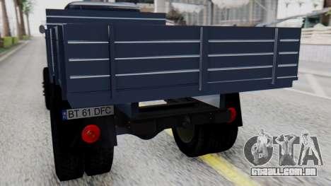DAC 6135 Facelift para GTA San Andreas vista traseira