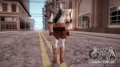 God Of War 3 Kratos Blue para GTA San Andreas terceira tela