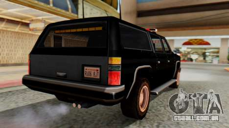 FBI Rancher with Lightbars para GTA San Andreas esquerda vista