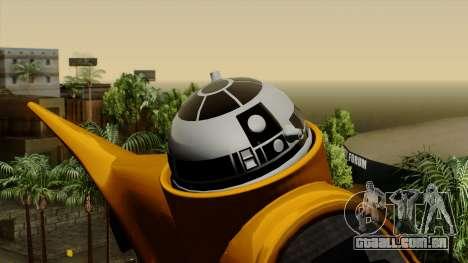 Star Wars N-1 Naboo Starfighter para GTA San Andreas vista direita