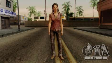 Tess from The Last of Us para GTA San Andreas segunda tela