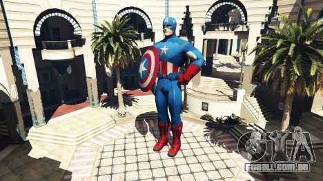 Estátua Do Capitão América para GTA 5