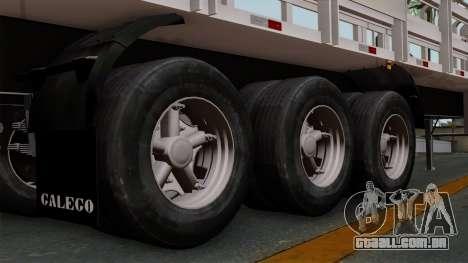 Trailer Rejas Gas para GTA San Andreas traseira esquerda vista