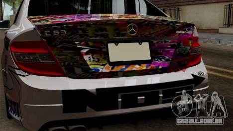 Mercedes-Benz C63 AMG Momoka and Nonoka Itasha para GTA San Andreas vista traseira
