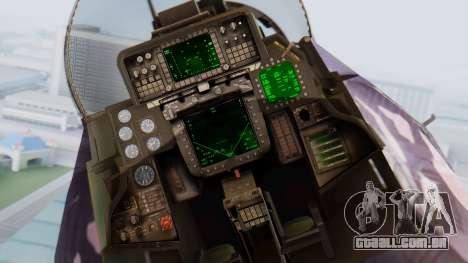 F-14D Zipang para GTA San Andreas vista traseira